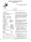 Colorado Native Plant Society Newsletter, Vol. 1 No. 2, March-April 1977