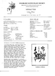 Colorado Native Plant Society Newsletter, Vol. 1 No. 5, September-October 1977