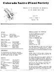 Colorado Native Plant Society Newsletter, Vol. 2 No. 3, May-June 1978