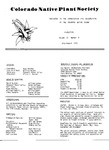 Colorado Native Plant Society Newsletter, Vol. 2 No. 4, July-August 1978