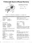 Colorado Native Plant Society Newsletter, Vol. 3 No. 1, January-February 1979
