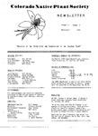 Colorado Native Plant Society Newsletter, Vol. 3 No. 2, March-April 1979