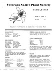 Colorado Native Plant Society Newsletter, Vol. 3 No. 3, May-June 1979