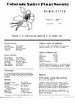 Colorado Native Plant Society Newsletter, Vol. 3 No. 4, July-August 1979