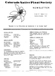 Colorado Native Plant Society Newsletter, Vol. 3 No. 5-6, September-December 1979