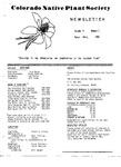 Colorado Native Plant Society Newsletter, Vol. 4 No. 2, March-April 1980