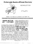 Colorado Native Plant Society Newsletter, Vol. 8 No. 4, July-September 1984