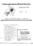Colorado Native Plant Society Newsletter, Vol. 9 No. 2, March-April 1985