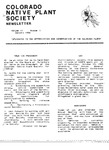 Colorado Native Plant Society Newsletter, Vol. 10 No. 1, January 1986