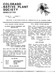 Colorado Native Plant Society Newsletter, Vol. 10 No. 2, March 1986