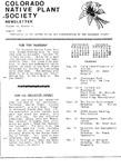 Colorado Native Plant Society Newsletter, Vol. 10 No. 4, August 1986