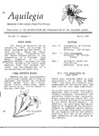Aquilegia, Vol. 11 No. 2, March 1987: Newsletter of the Colorado Native Plant Society