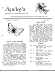 Aquilegia, Vol. 11 No. 3, May 1987: Newsletter of the Colorado Native Plant Society