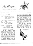 Aquilegia, Vol. 11 No. 4, July 1987: Newsletter of the Colorado Native Plant Society