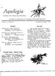 Aquilegia, Vol. 11 No. 6, November-December 1987: Newsletter of the Colorado Native Plant Society