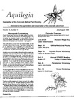 Aquilegia, Vol. 12 No. 4, July-August 1988: Newsletter of the Colorado Native Plant Society