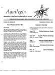 Aquilegia, Vol. 12 No. 5, September-October 1988: Newsletter of the Colorado Native Plant Society