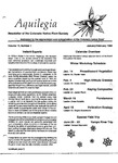 Aquilegia, Vol. 13 No. 1, January-February 1989: Newsletter of the Colorado Native Plant Society