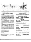 Aquilegia, Vol. 13 No. 3, May-June 1989: Newsletter of the Colorado Native Plant Society