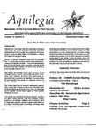 Aquilegia, Vol. 13 No. 5, September-October 1989: Newsletter of the Colorado Native Plant Society
