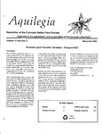 Aquilegia, Vol. 14 No. 3, May-June 1990: Newsletter of the Colorado Native Plant Society