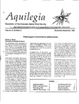 Aquilegia, Vol. 14 No. 6, November-December 1990: Newsletter of the Colorado Native Plant Society