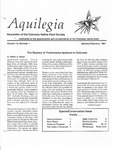 Aquilegia, Vol. 15 No. 1, January-February 1991: Newsletter of the Colorado Native Plant Society