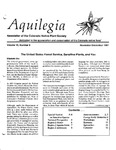 Aquilegia, Vol. 15 No. 6, November-December 1991: Newsletter of the Colorado Native Plant Society