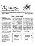 Aquilegia, Vol. 16 No. 1, January-February 1992: Newsletter of the Colorado Native Plant Society