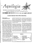 Aquilegia, Vol. 16 No. 6, November-December 1992: Newsletter of the Colorado Native Plant Society