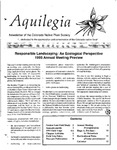 Aquilegia, Vol. 17 No. 2, April-June 1993: Newsletter of the Colorado Native Plant Society