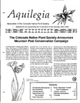 Aquilegia, Vol. 18 No. 5, September-December 1994: Newsletter of the Colorado Native Plant Society