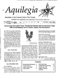 Aquilegia, Vol. 19 No. 2, April-June 1995: Newsletter of the Colorado Native Plant Society