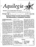 Aquilegia, Vol. 19 No. 4, October-December 1995: Newsletter of the Colorado Native Plant Society