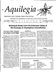 Aquilegia, Vol. 20 No. 1, January-March 1996: Newsletter of the Colorado Native Plant Society