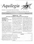Aquilegia, Vol. 21 No. 2-4, April-December 1997: Newsletter of the Colorado Native Plant Society