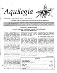 Aquilegia, Vol. 22 No. 1-2, January-April 1998: Newsletter of the Colorado Native Plant Society