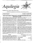 Aquilegia, Vol. 25 No. 7, November-December 2001: Newsletter of the Colorado Native Plant Society