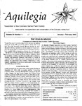 Aquilegia, Vol. 26 No. 1, January-February 2002: Newsletter of the Colorado Native Plant Society