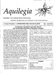 Aquilegia, Vol. 26 No. 3, May-June 2002: Newsletter of the Colorado Native Plant Society by Leo P. Bruederle, John Giordanengo, Gwen Kittel, Jill Handwerk, Alice Guthrie, Gay Austin, and Dick Moseley