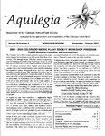 Aquilegia, Vol. 26 No. 5, September-October 2002: Newsletter of the Colorado Native Plant Society