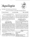 Aquilegia, Vol. 27 No. 2, March-June 2003: Newsletter of the Colorado Native Plant Society