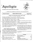 Aquilegia, Vol. 27 No. 3, August 2003: Newsletter of the Colorado Native Plant Society