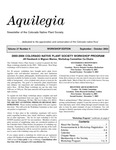 Aquilegia, Vol. 27 No. 4, September-October 2003: Newsletter of the Colorado Native Plant Society by Alice Guthrie, Jill Handwerk, Mignon Macias, Tass Kelso, and Misha Schurman