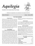 Aquilegia, Vol. 28 No. 1, January-February 2004: Newsletter of the Colorado Native Plant Society