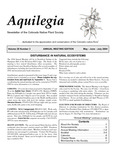 Aquilegia, Vol. 28 No. 3, May-June-July 2004: Newsletter of the Colorado Native Plant Society by Alice Guthrie, David Anderson, N.L. Britton, A. Brown, and Michael Kuo