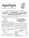 Aquilegia, Vol. 28 No. 4, September-October 2004: Newsletter of the Colorado Native Plant Society