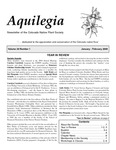 Aquilegia, Vol. 29 No. 1, January-February 2005: Newsletter of the Colorado Native Plant Society