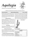 Aquilegia, Vol. 29 No. 3, May-July 2005: Newsletter of the Colorado Native Plant Society