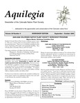 Aquilegia, Vol. 29 No. 4, September-October 2005: Newsletter of the Colorado Native Plant Society